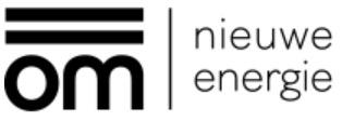 OM nieuwe energie logo